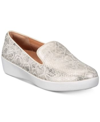 da155855835d FitFlop Audrey Slip-Resistant Loafers - White 6.5M