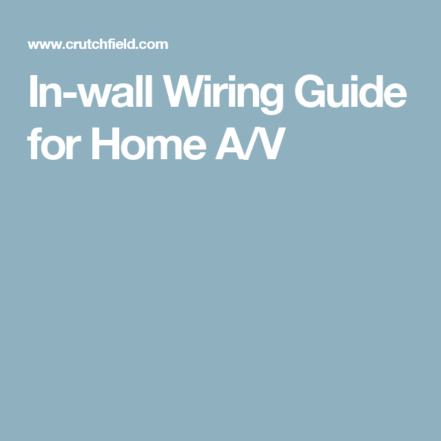 Inwall wiring guide for home A/V In wall speakers, Wire