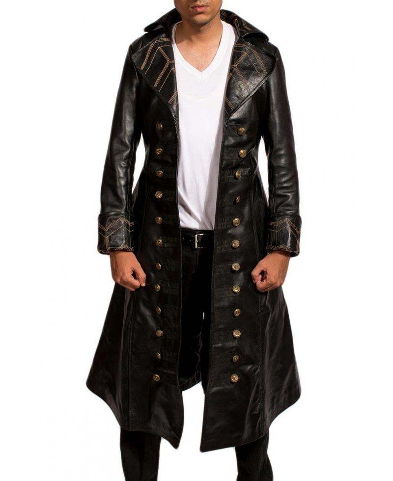 94987322f Pirate Black Long Coat in 2019 | Long Coats | Long leather coat ...