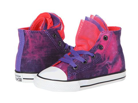 d7389b35eaff Converse Kids Chuck Taylor® All Star® Party Hi (Infant Toddler)  Nightshade Diva Pink - Zappos.com Free Shipping BOTH Ways
