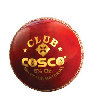 Cosco Club Leather Ball Pack Of 2 Cricket Balls Cosco Ball