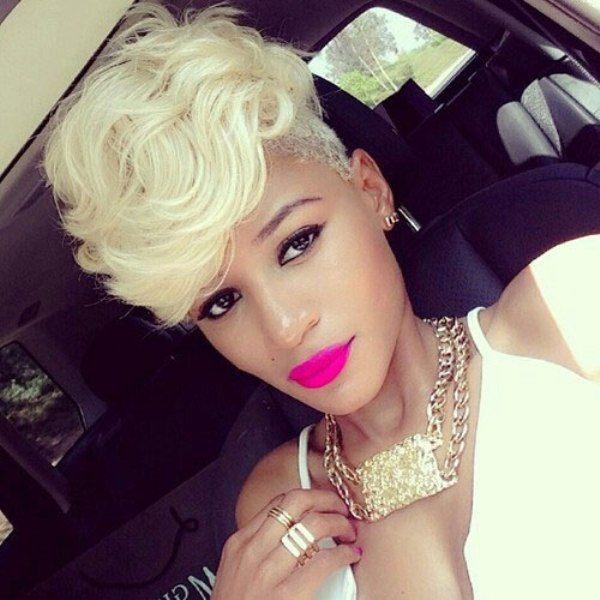 Mohawk Hairstyles For Women funky short mohawk hairstyles for women Platinum Blonde Mohawk Hairstyle For Black Women