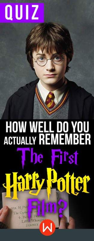 Quiz How Well Do You Actually Remember The First Harry