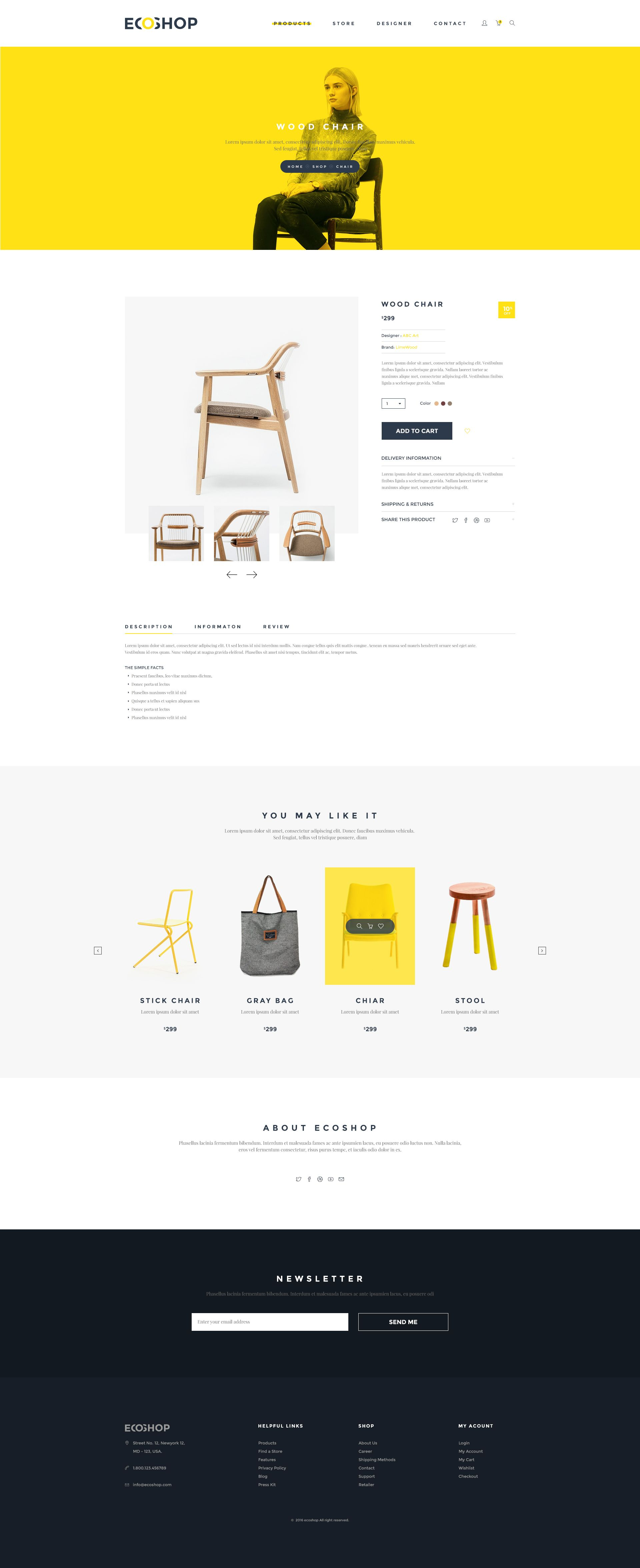 Ecoshop is high quality ecommerce psd templates which designed for
