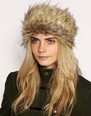 Eskimo Hat Cara Delevingne, Snow Fashion, Faux Fur Headband, Winter Wear,  Autumn c36f55a383