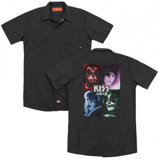 Kiss Alive Ii Album Cover Work Shirt In 2019 Officially Licensed