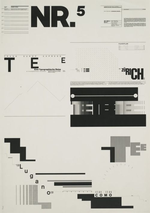 "Typographic Process, Nr 5. Typography as (Painting) by Wolfgang Weingart, 34 1/2 x 24 1/4"" (1971)"
