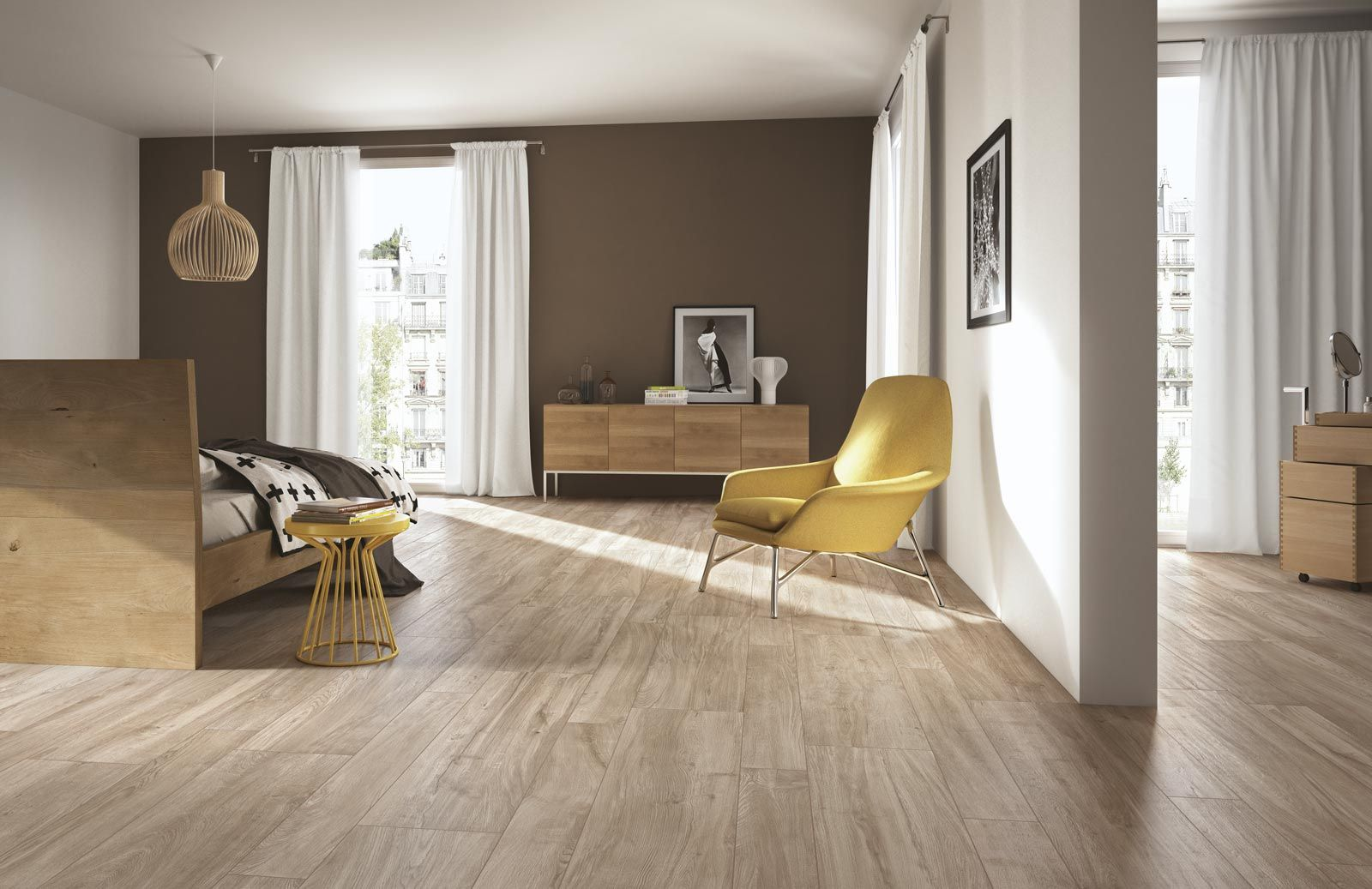 Ragno #woodliving Rovere Tortora 20X120 Cm R40D  #porcelain Extraordinary Best Tiles Design For Living Room Review