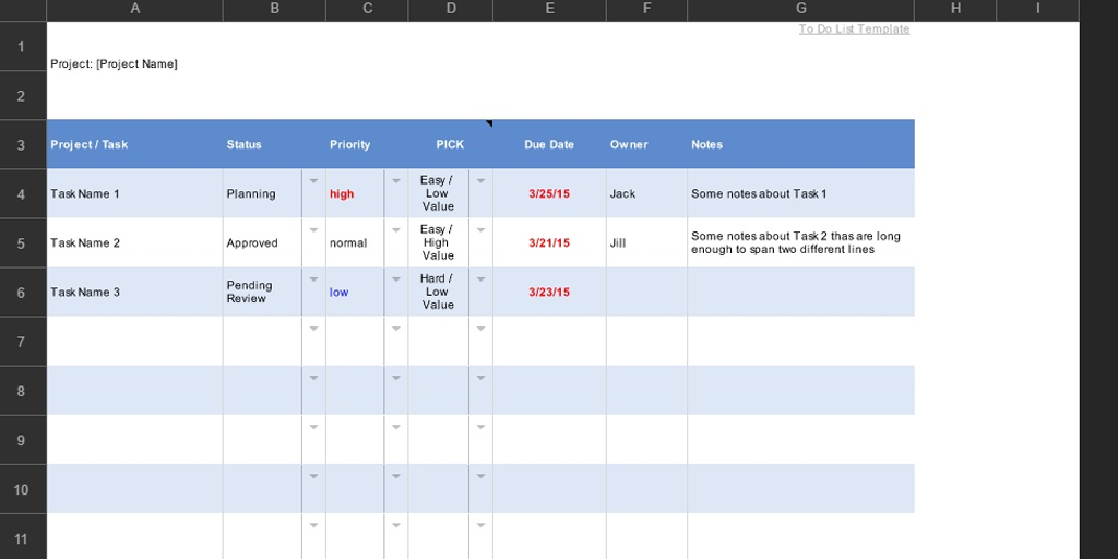 Spreadsheet Template For To Do List  Process Street
