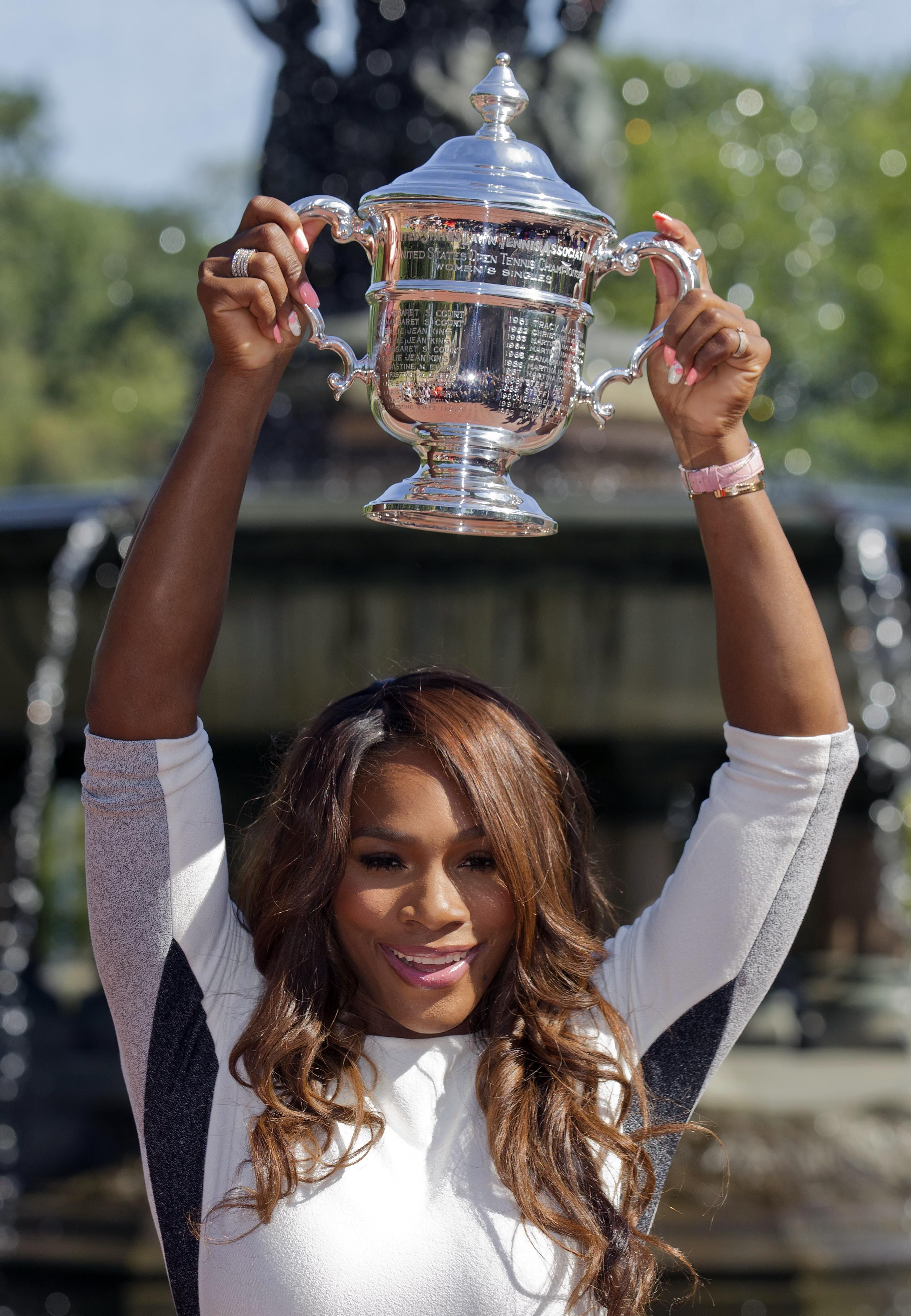 Top seeded Serena Williams beat second seeded Victoria Azarenka for her fifth U.S. Open championship and the 17th Grand Slam title of her career.