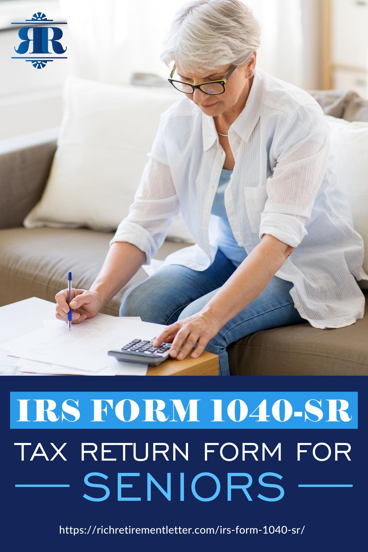 Irs Form Sr Tax Return Form For Seniors