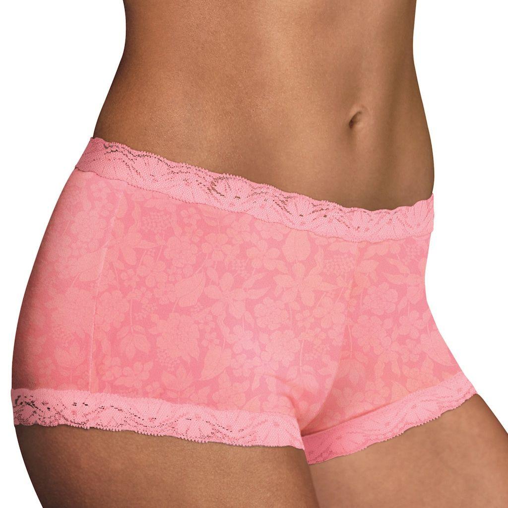 Maidenform One Fab Fit Microfiber Lace Trimmed Boyshort 40760 Boy Shorts Women Lace Trim