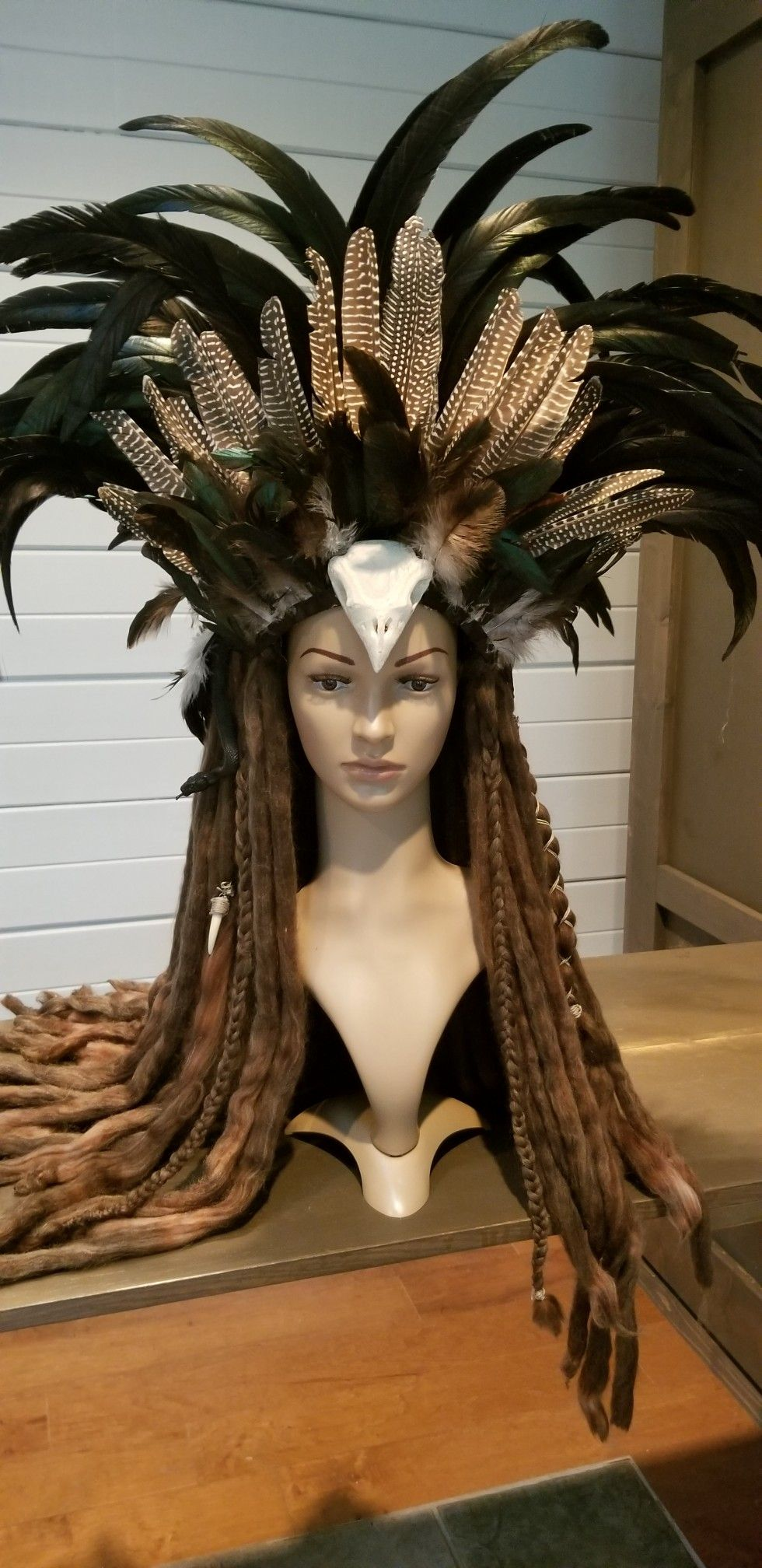 Reserved Voodoo Priestess Witchdoctor: Feathered Headband