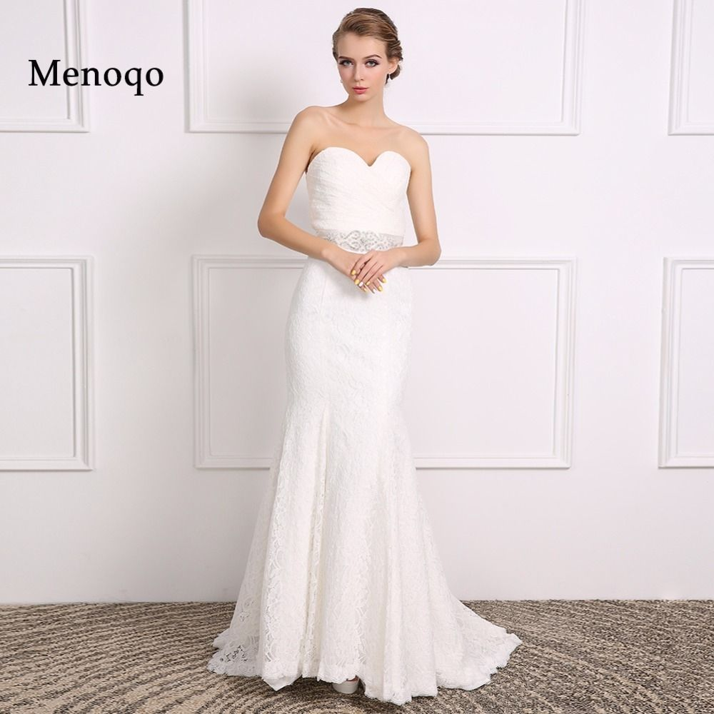 2017 Real Sample Wedding Dress Sweetheart Neck Charming Lace Mermaid ...