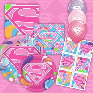 Supergirl Party Supplies Birthday