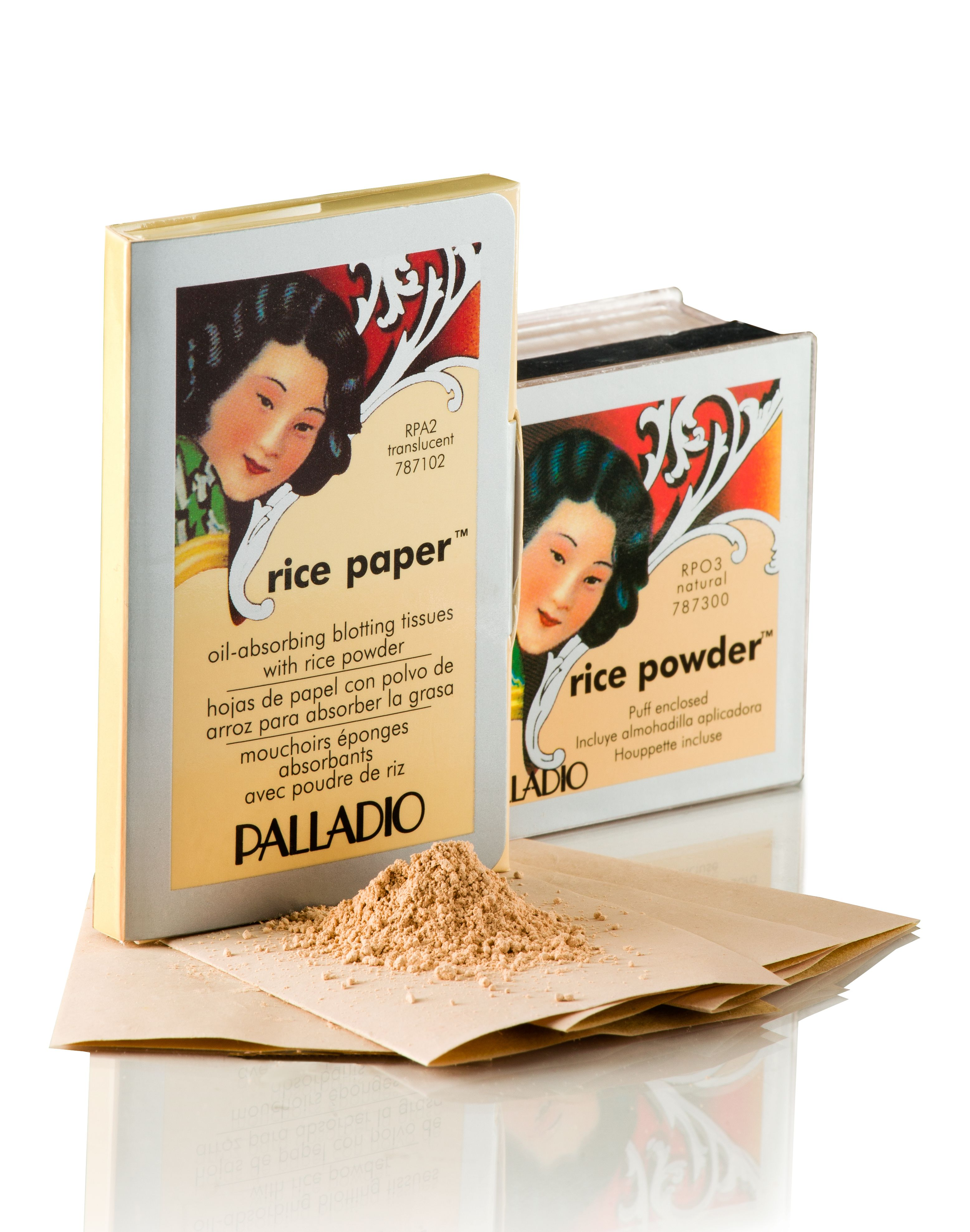 PALLADIO Rice Powder and Rice Papers Puder ryżowy i