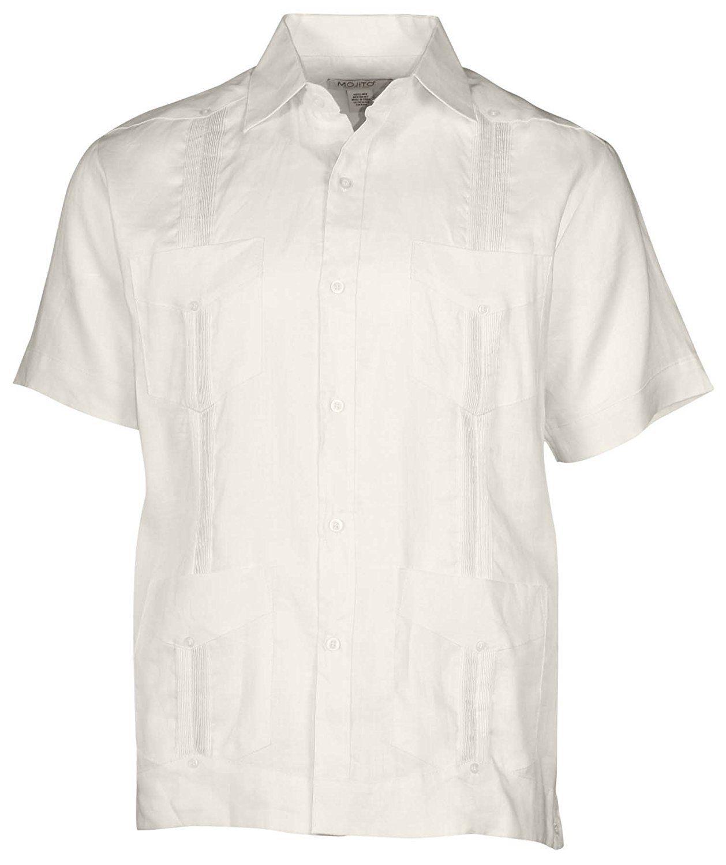 Men S Short Sleeve 100 Linen Guayabera Guayabera Shirt Wedding Shirts Sleeves