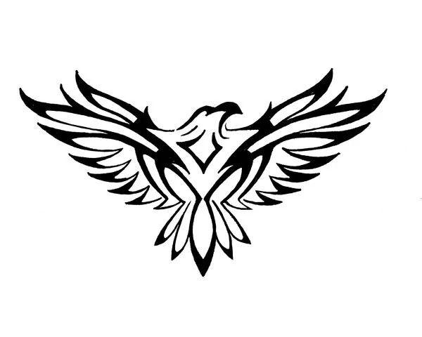 Tattoo Ideas Tribal Falcon Tattoo