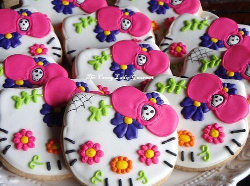 Hello Kitty Day of the Dead Cookies Birthday Inspiration Hello - hello kitty halloween decorations