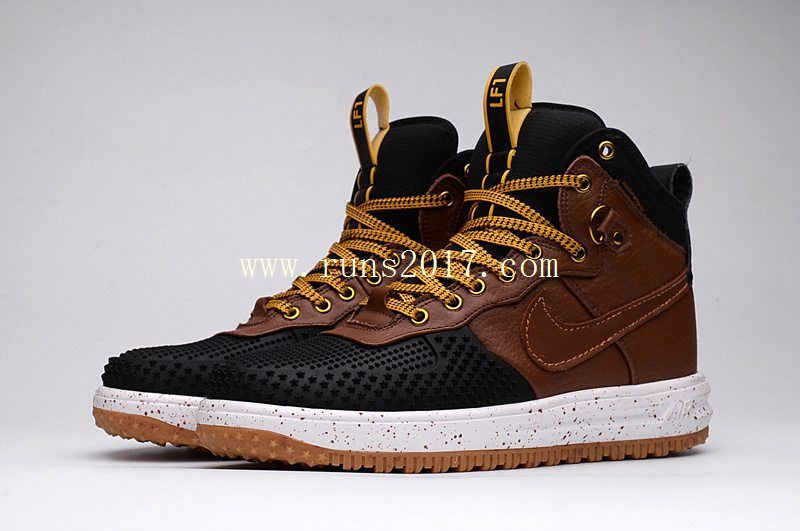 the best attitude 91821 8db09 Nike Lunar Force 1 High Men DUCK BOOT Black Brown