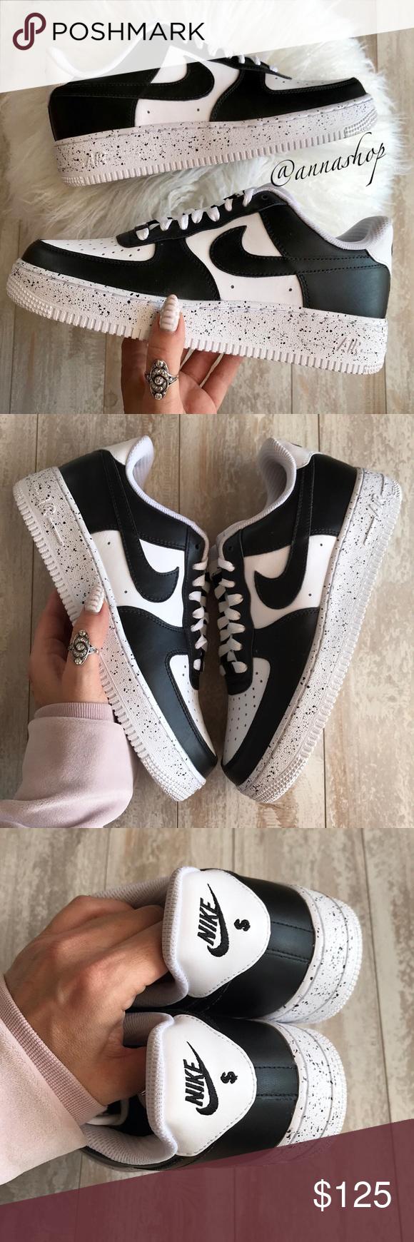 new product 6599d 5fce4 Spotted while shopping on Poshmark  NWT Nike ID Air Force 1 Custom Oreo!   poshmark  fashion  shopping  style  Nike  Shoes