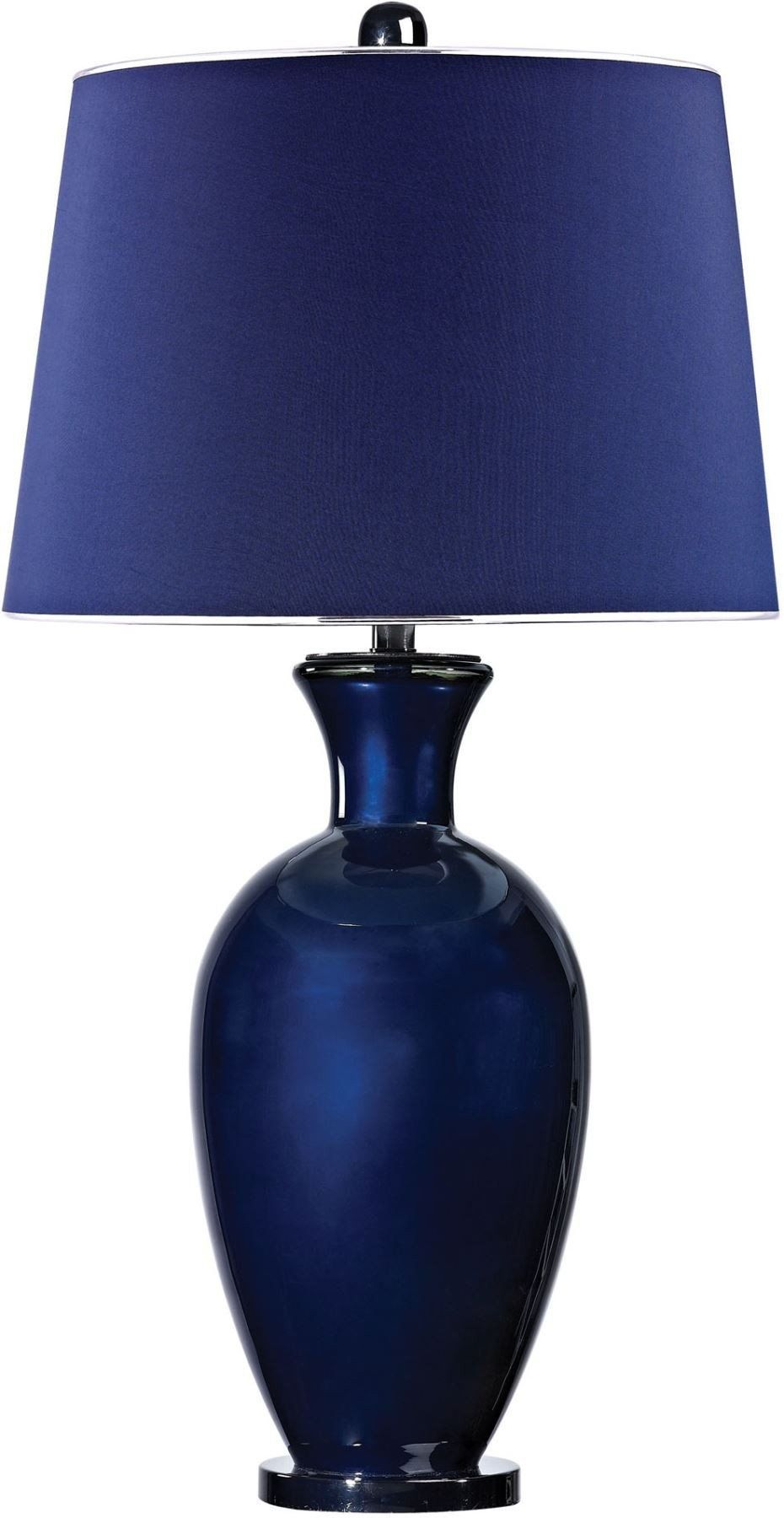 Helensburugh Glass Table Lamp In Navy Blue