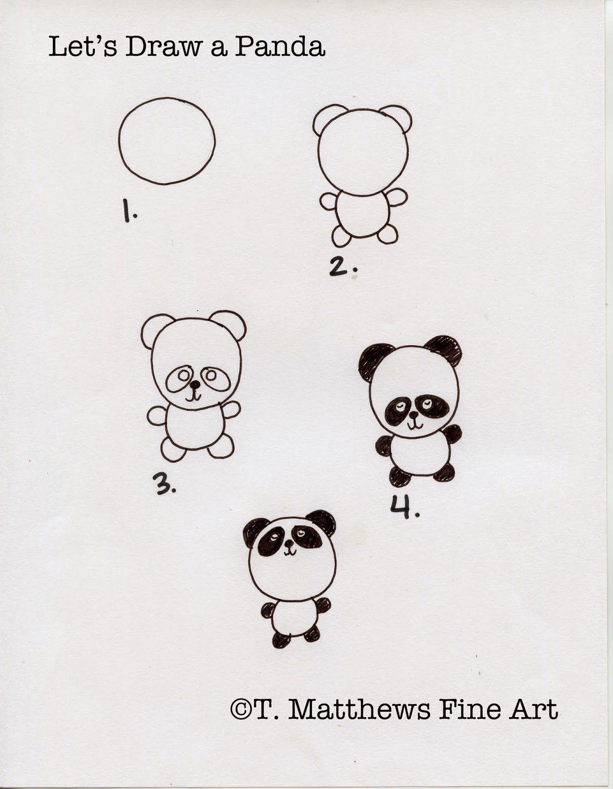 Como hacer un panda paso a paso