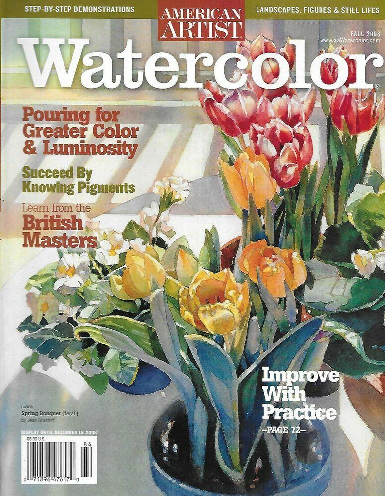 American artist watercolor magazine color pigments british