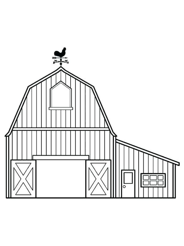 Horse Barn Coloring Pages The Barn Is Structures Used For Storage Of Agricultural Products Such As Hay Grain And Fruits Horse Barn Cool Coloring Pages Color