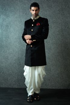 Indo western westerns sherwani and mens fashion clothing for Indo western wedding dress for men