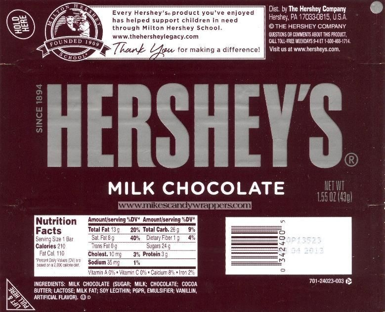 free hershey candy bar wrapper templates