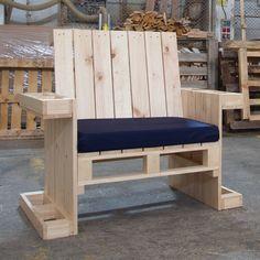Sill n individual hecho con palets silla escalera - Sillones hechos con palets ...