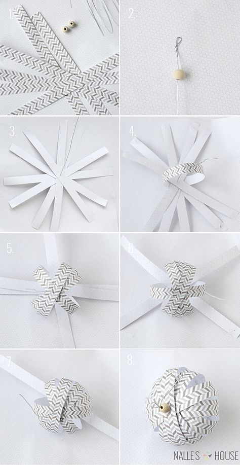 Photo of Homemade Paper Ball Ornaments | handmade ornament no. 11 – bystephanielynn
