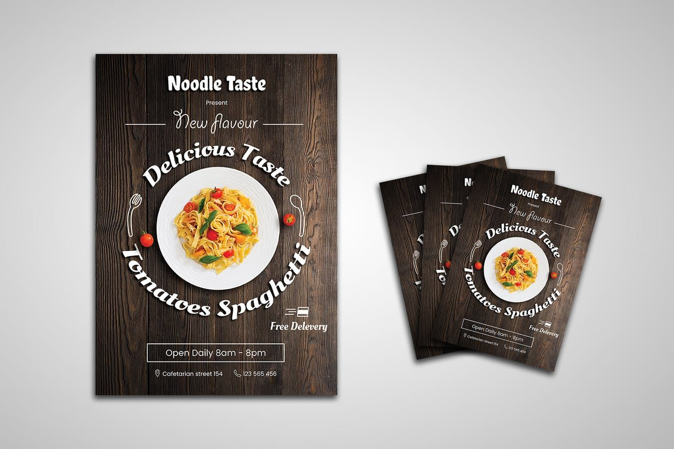 Food flyer template psd a4 download with images