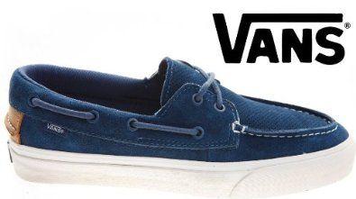 Búho Tractor artillería  Vans Zapato Del Barco California Perf Blue Deck Shoes: Amazon.co.uk: Shoes  & Accessories
