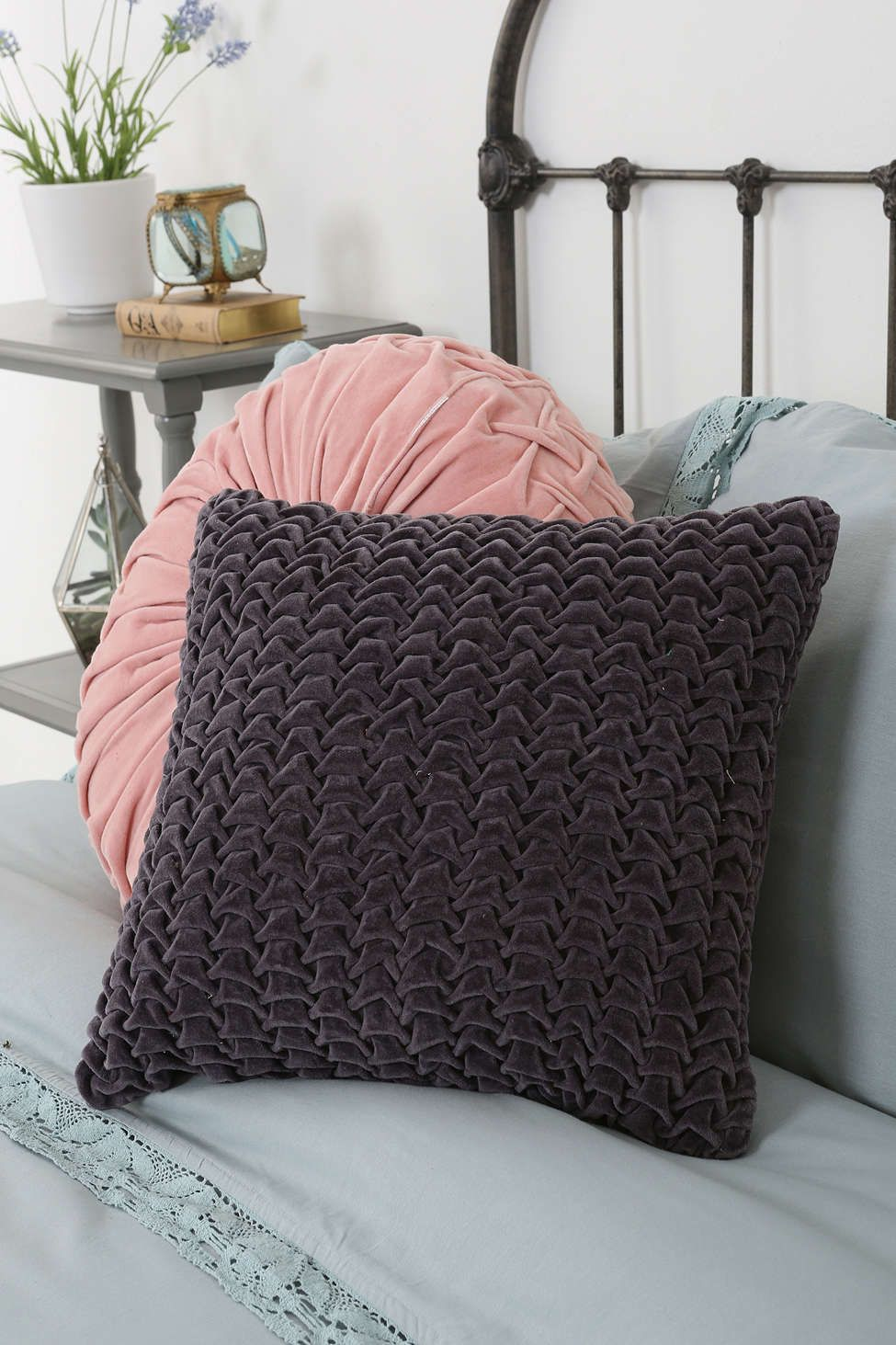 Magical Thinking Hand-Quilted Velvet Pillow - Urban Outfitters