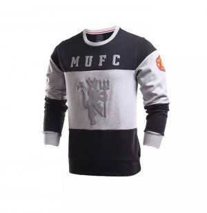 Manchester United 16-17 Season Black & Grey Soccer Sweater [J233]