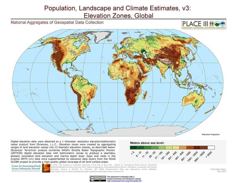 World Elevation Map And Maps Of Cities Best X   World map ...