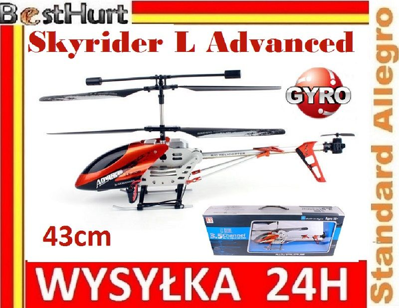 Mega Helikopter Skyrider L Advanced 43cm Gyro Led 4872192833 Oficjalne Archiwum Allegro Led Gyro