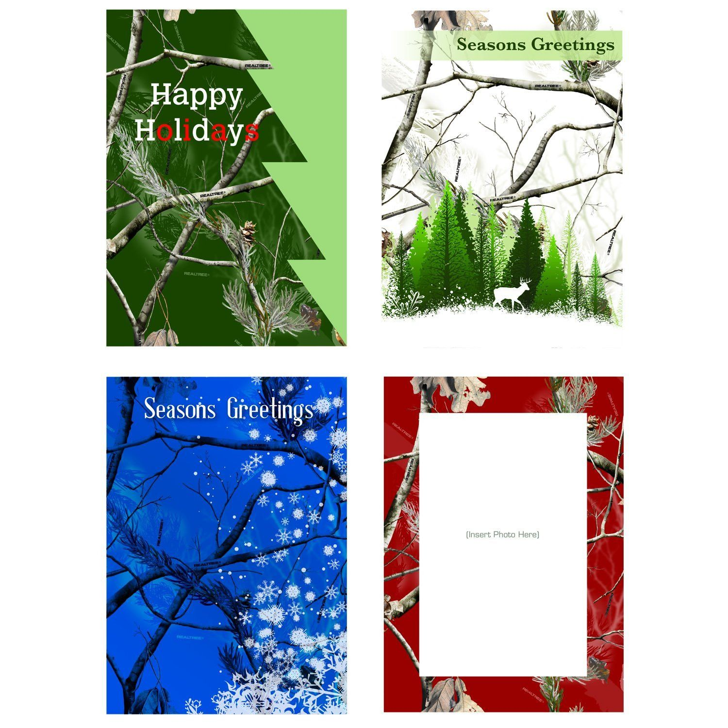 Realtree camo boxed holiday greeting cards 12 count count camo realtree camo boxed holiday greeting cards 12 count kristyandbryce Choice Image