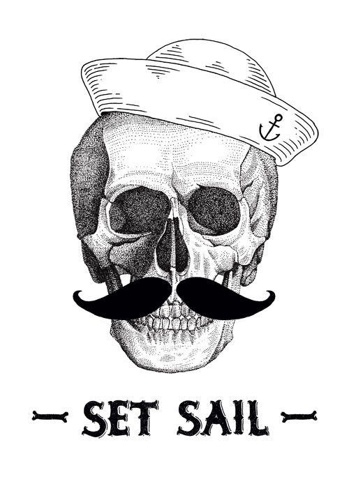 #illustration #skull #sailor