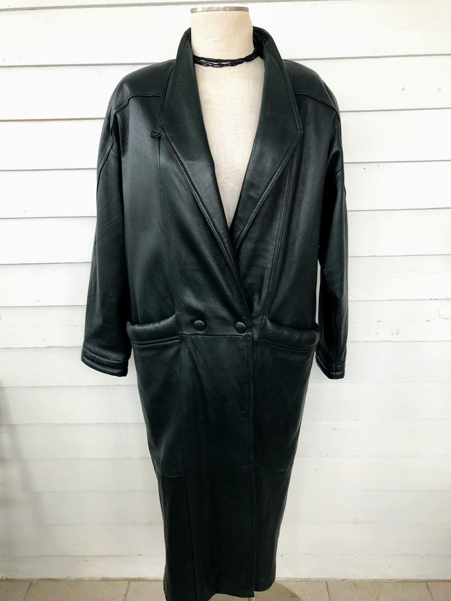 Vintage Wilsons Leather Womans Long Jacket Thinsulate