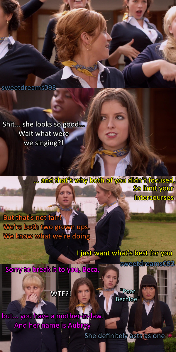 Bechloe - Aubrey as the mother-in-law