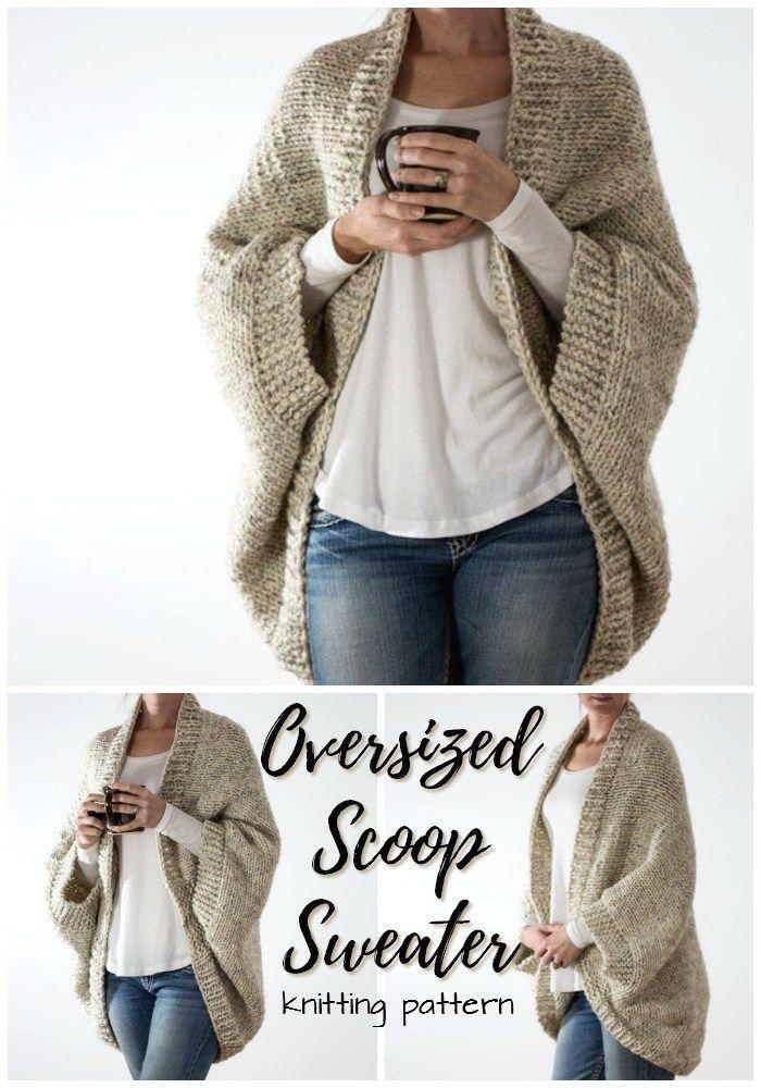 Photo of Este patrón de punto simple para un suéter de gran tamaño se ve tan fácil y …