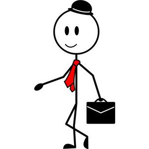Businessman Cartoon Clipart Image Stick Figure Businessman - Cartoon stick people clip art