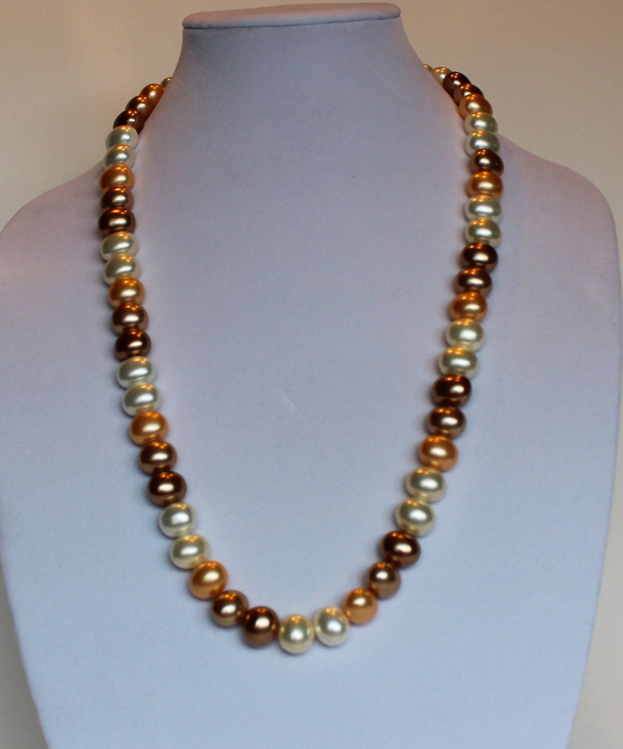 Potato Shape Pearl Necklace by AuntyBBaubles on Etsy