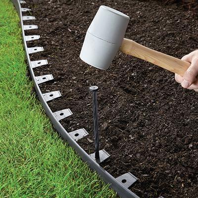Proflex Vigoro No Dig 20 Feet Landscape Edging Kit Home Depot Canada Metal Landscape Edging Landscape Edging Yard Edging