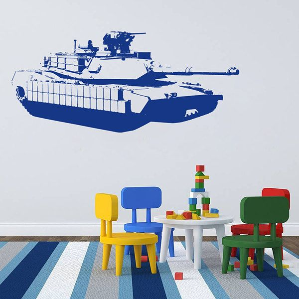 kik711 Wall Decal Sticker Room Decor Wall Art Mural Military Tank US Army special weapons squad children's room