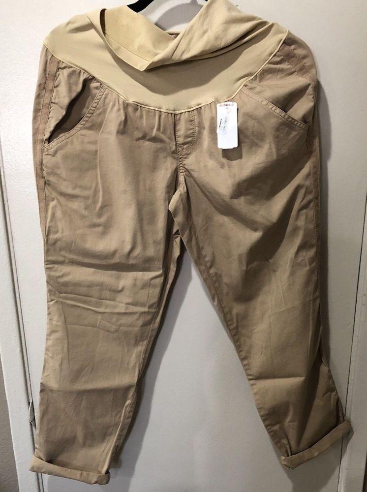 fdc1eb4ed29b8 NWT MSRP $54.00 Maternity a:glow Capri Khaki Pants Size 8 #fashion #clothing  #shoes #accessories #womensclothing #maternity (ebay link)