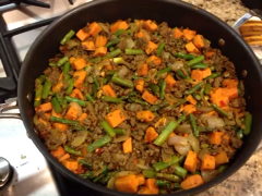 Whole30 Ground Beef Sweet Potatoes And Asparagus Skillet From Tan Rezaei S Kitchen Clean Eating Recipes Healthy Recipes Whole 30 Recipes